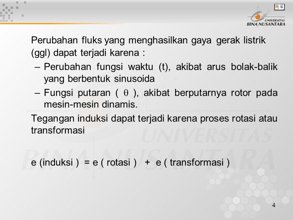 15 Parameter Transformator Ada empat parameter transformator yaitu: Rc, Xm, Rek dan Xek.