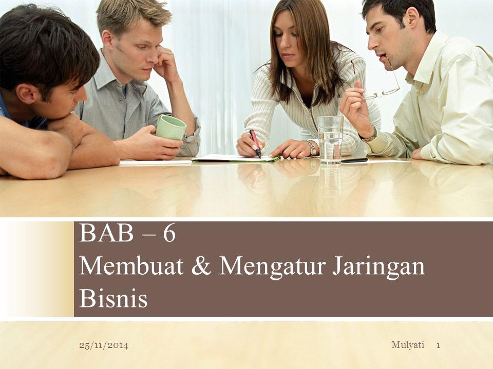 BAB – 6 Membuat & Mengatur Jaringan Bisnis 25/11/20141Mulyati