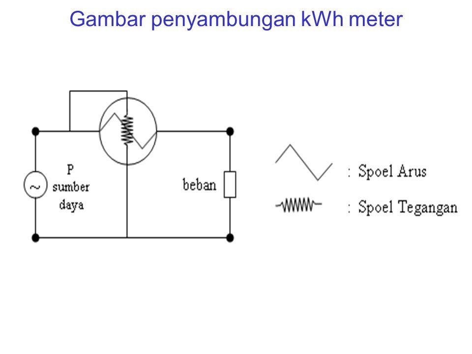 Gambar penyambungan kWh meter