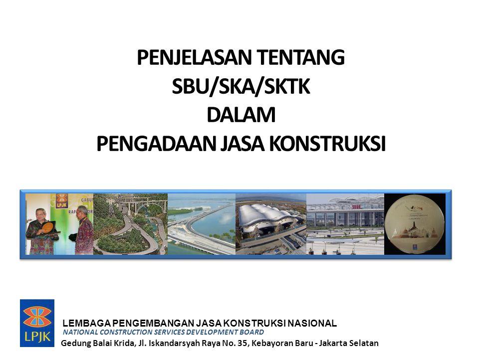 Sistim Informasi Konstruksi Indonesia (SIKI) 1.Status Proses Registrasi 2.Database Badan Usaha 3.Database usaha Perorg 4.Database Tenaga Kerja 5.Klasifikasi / kualifikasi BU 6.Klas/kual Usaha Perorg 7.Klas/Kual Tenaga Kerja 8.Kekayaan Bersih BU 9.Pengurus BU 10.Pengalaman BU 11.Tenaker Ahli / Trampil BU 12.Daftar Hitam BU 13.Daftar Hitam Tenaker 1.Status Proses Registrasi 2.Database Badan Usaha 3.Database usaha Perorg 4.Database Tenaga Kerja 5.Klasifikasi / kualifikasi BU 6.Klas/kual Usaha Perorg 7.Klas/Kual Tenaga Kerja 8.Kekayaan Bersih BU 9.Pengurus BU 10.Pengalaman BU 11.Tenaker Ahli / Trampil BU 12.Daftar Hitam BU 13.Daftar Hitam Tenaker INFORMASI PUBLIK www.lpjk.net