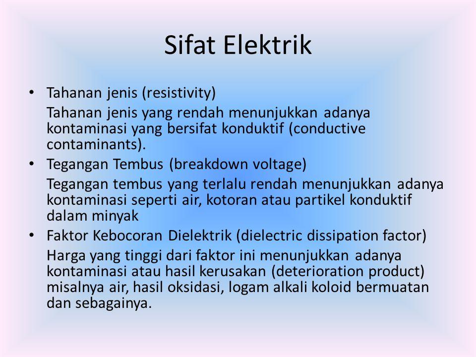 Sifat Elektrik Tahanan jenis (resistivity) Tahanan jenis yang rendah menunjukkan adanya kontaminasi yang bersifat konduktif (conductive contaminants).