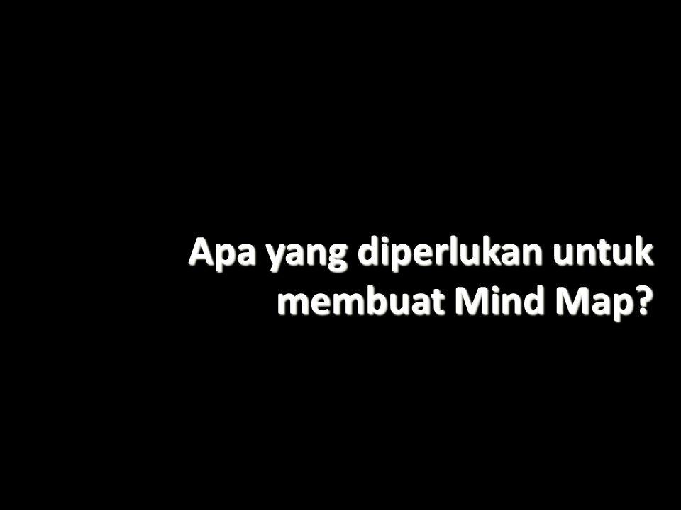 Apa yang diperlukan untuk membuat Mind Map?