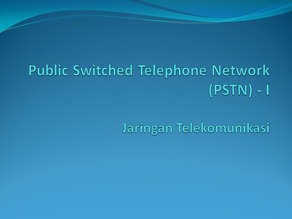 Layanan pada PSTN Plain Old Telephone Service (POTS) Telephony Voice communication 2