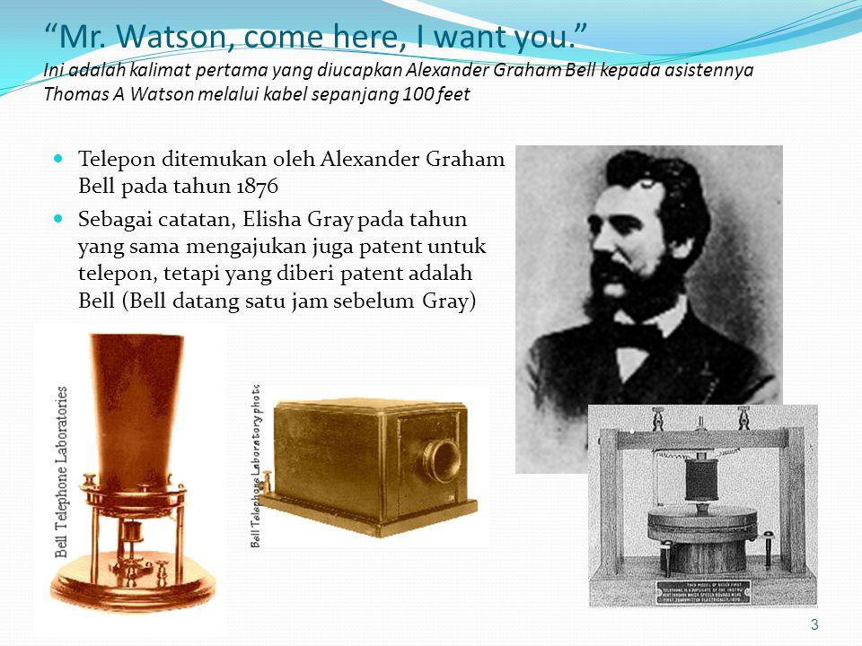 4 Elisha Gray 1835 -1901 Source: http://www.obsolete.com/120_years/machines/telegraph/ Nama lain yang disebut-sebut sebagai penemu telepon juga adalah Antonio Meucci Antonio Meucci 1808 -1896 Source: http://www.italianhistorical.org/MeucciStory.htm