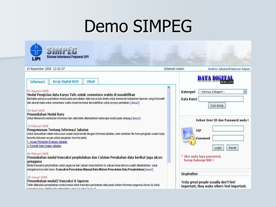 Demo SIMPEG
