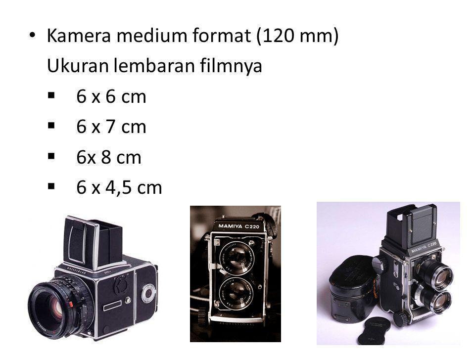 Kamera 35 mm Ukuran lembar filmnya 24 mm x 36 mm