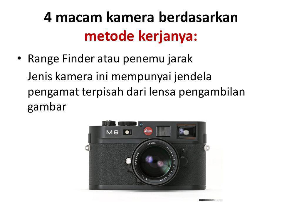 Single Lens Reflex / reflek lensa tunggal (SLR) Kamera ini hanya menggyunakan hanya satu lensa untuk membidik dan mengambil gambar.