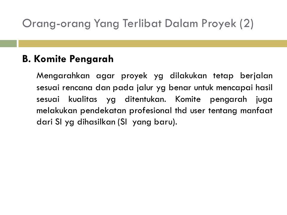 Orang-orang Yang Terlibat Dalam Proyek (2) B.