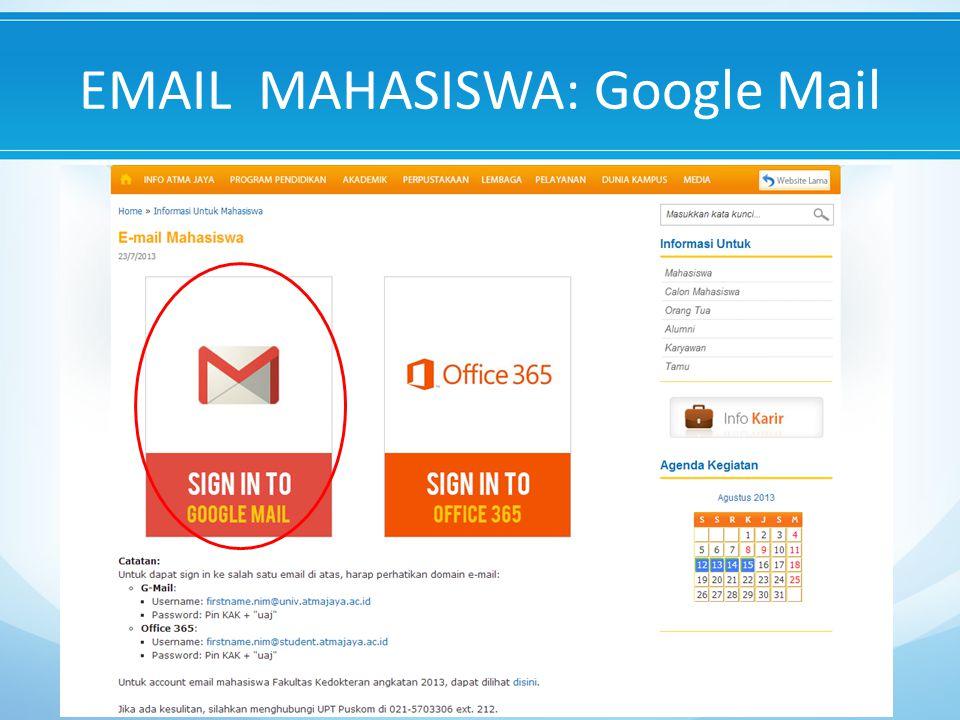 EMAIL MAHASISWA: Google Mail