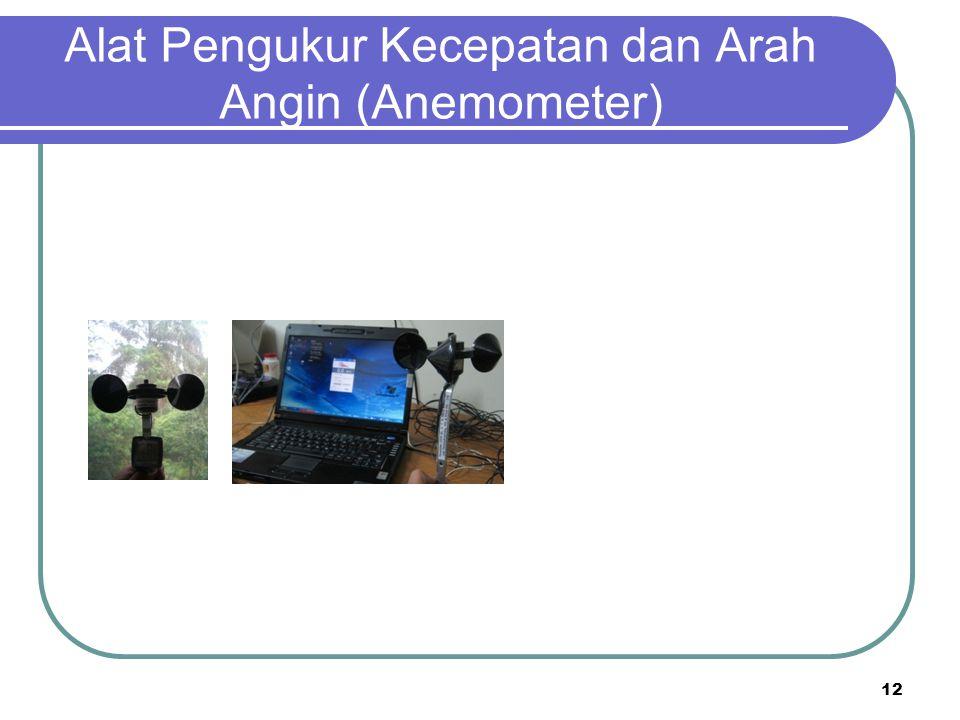 Alat Pengukur Kecepatan dan Arah Angin (Anemometer) 12