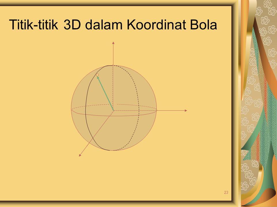 Titik-titik 3D dalam Koordinat Bola 23