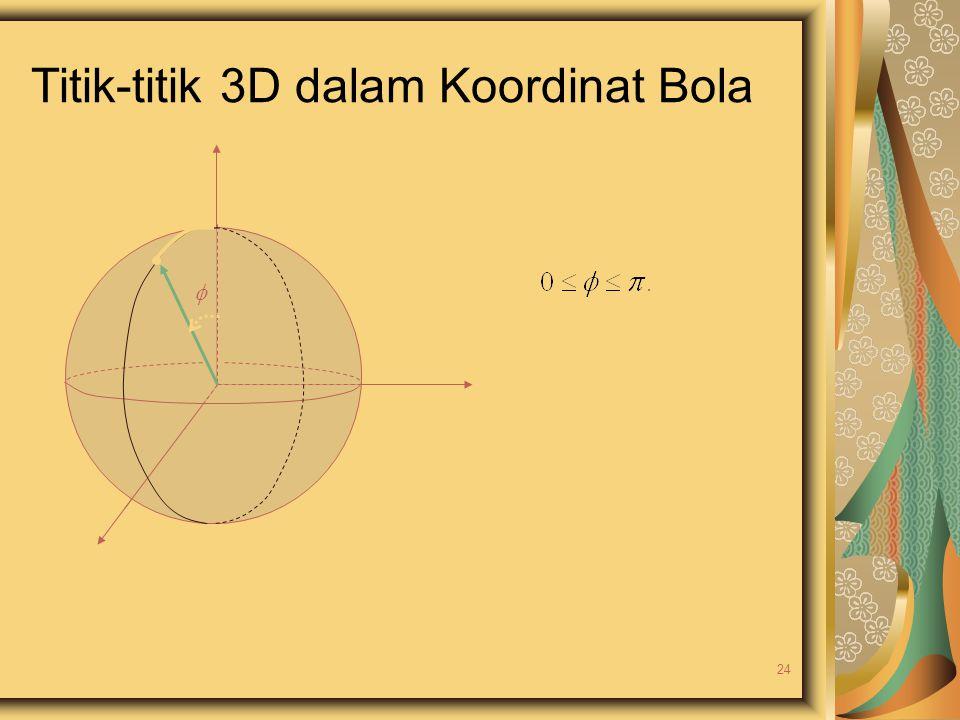 Titik-titik 3D dalam Koordinat Bola  24