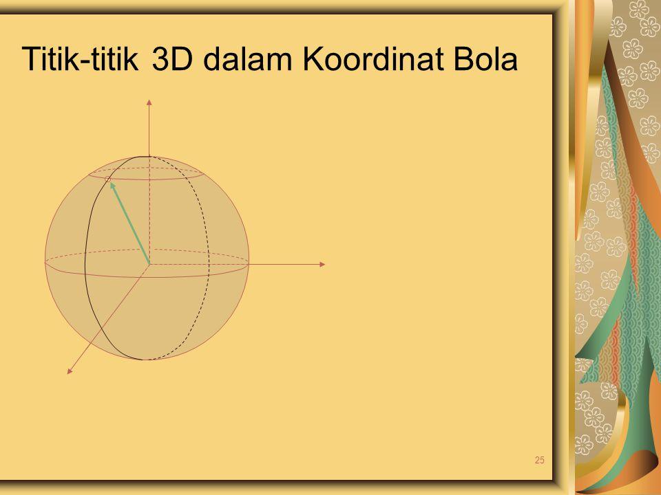 Titik-titik 3D dalam Koordinat Bola 25