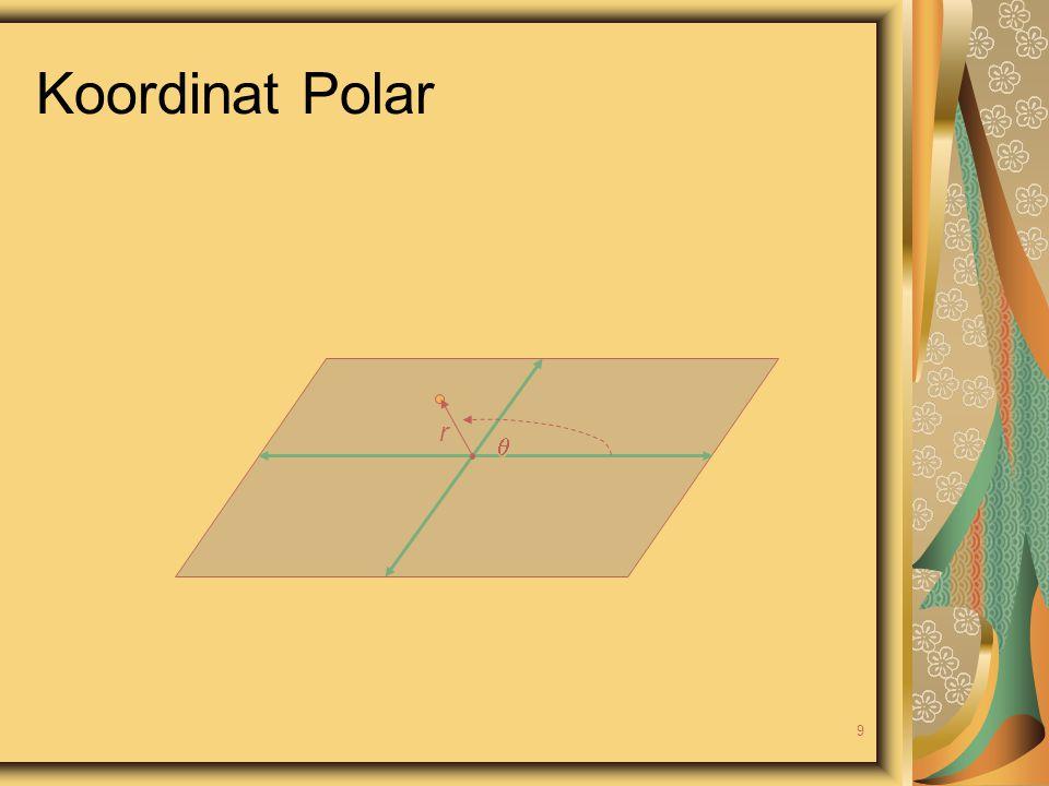 Koordinat Polar r  9
