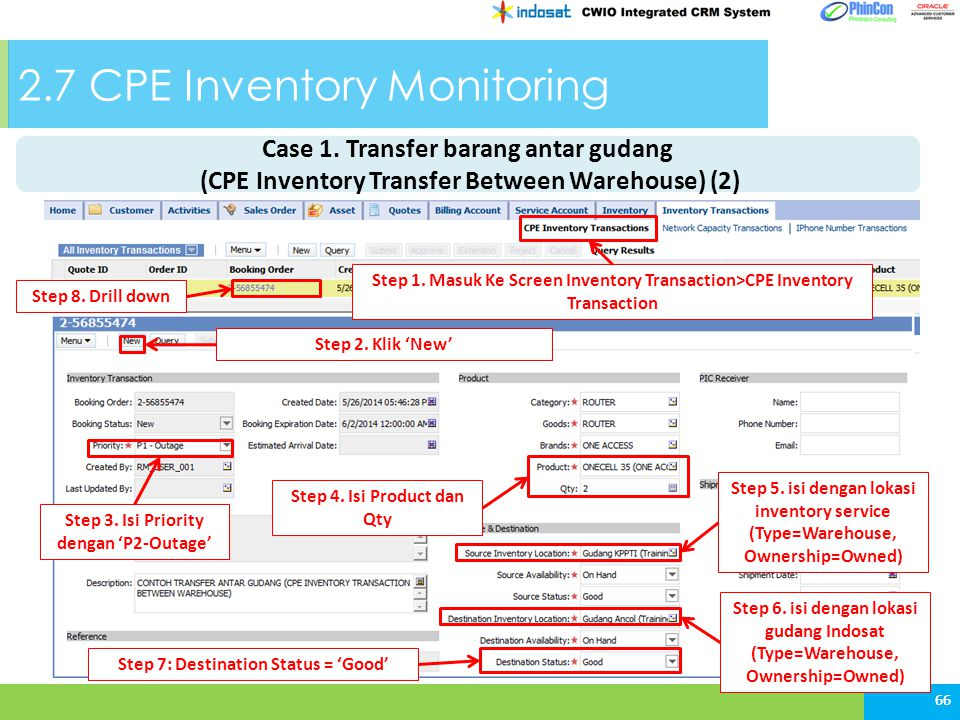 2.7 CPE Inventory Monitoring 66 Step 1.