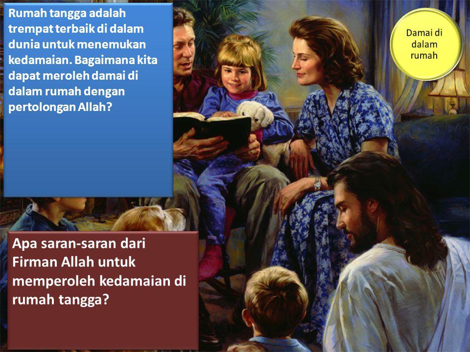 Allah menginginkan para oarng tua dan keluarga mereka untuk datang di kaki salib.