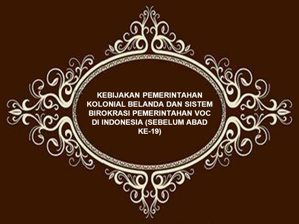 Statistik Ekonomi Kolonial Kedudukan dan Fungsi Hindia Belanda Sistem pemerintahan Kolonial (Hindia Belanda) menciptakan sistem ekonomi kolonial yang diarahkan untuk memenuhi kepentingan negeri Belanda.