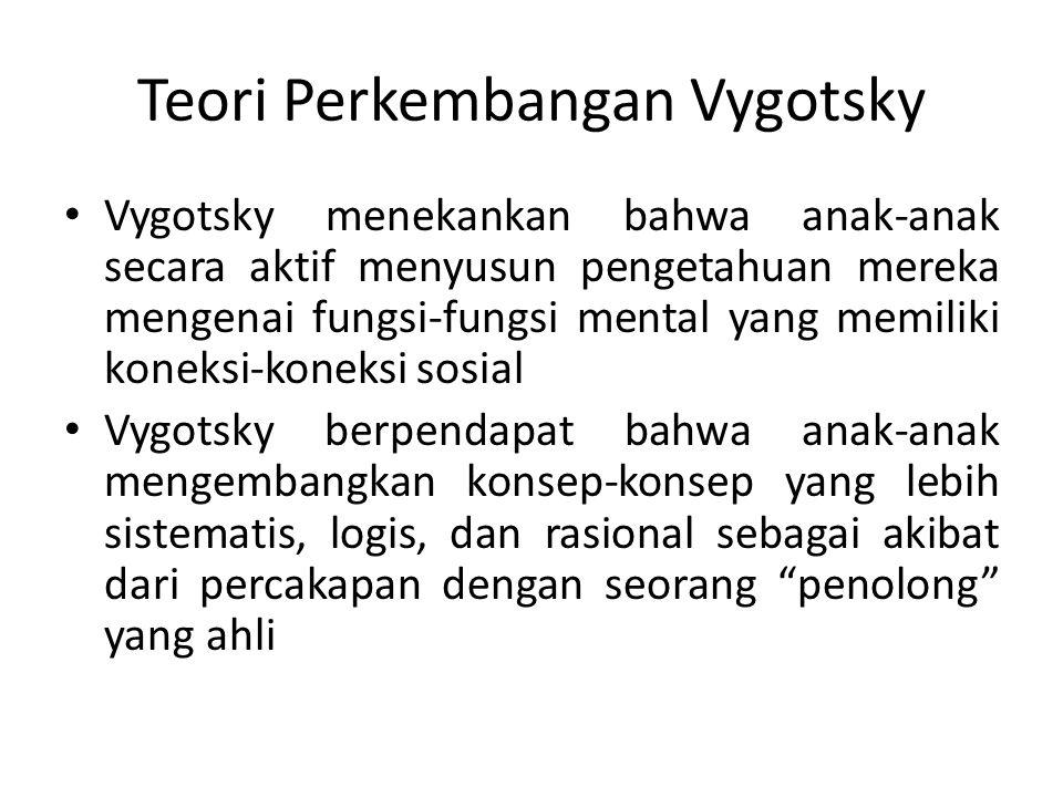 Teori Perkembangan Vygotsky 1.