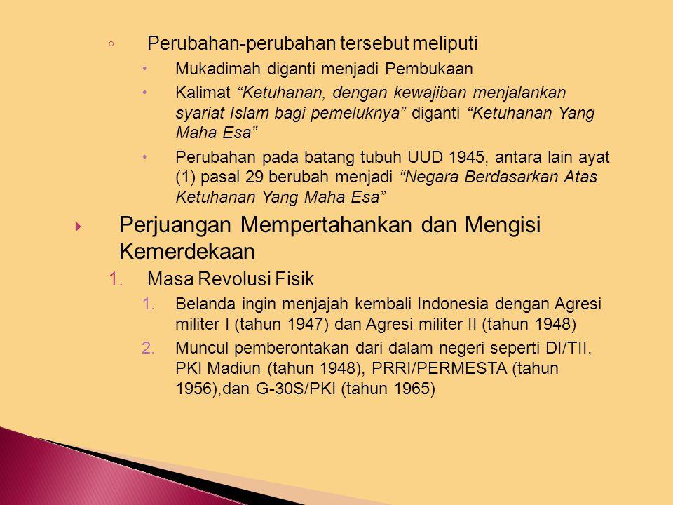 C. Setelah Proklamasi Kemerdekaan  Proklamasi Kemerdekaan dan maknanya ◦ Dari sudut hukum : Bangsa Indonesia telah merdeka, menghapus tata hukum kolo