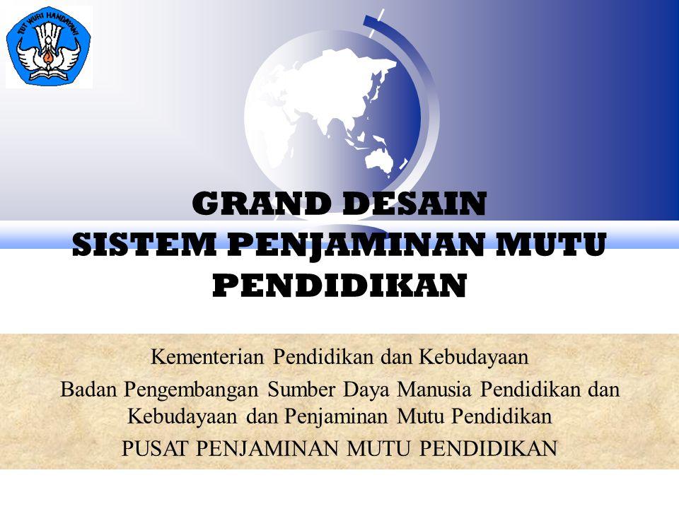 GRAND DESAIN SISTEM PENJAMINAN MUTU PENDIDIKAN Kementerian Pendidikan dan Kebudayaan Badan Pengembangan Sumber Daya Manusia Pendidikan dan Kebudayaan