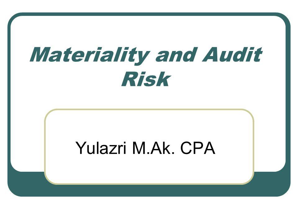 Audit Risk Model AR=IR x CR x DR AR DR = IR x CR resiko auditee
