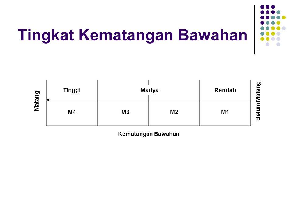 Tingkat Kematangan Bawahan Tingkat kematangan rendah (M1), ciri: tidak mampu, tidak mau, tidak mantap. Tingkat kematangan rendah ke kematangan madya (