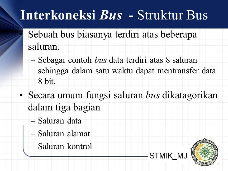 Interkoneksi Bus - Struktur Bus Sebuah bus biasanya terdiri atas beberapa saluran.
