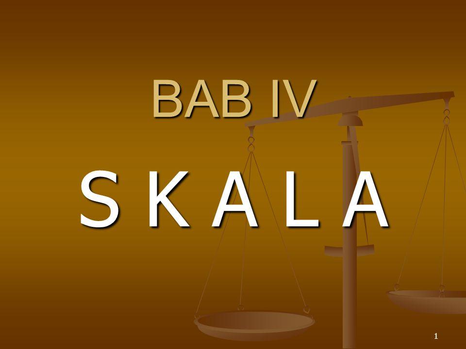 1 BAB IV S K A L A