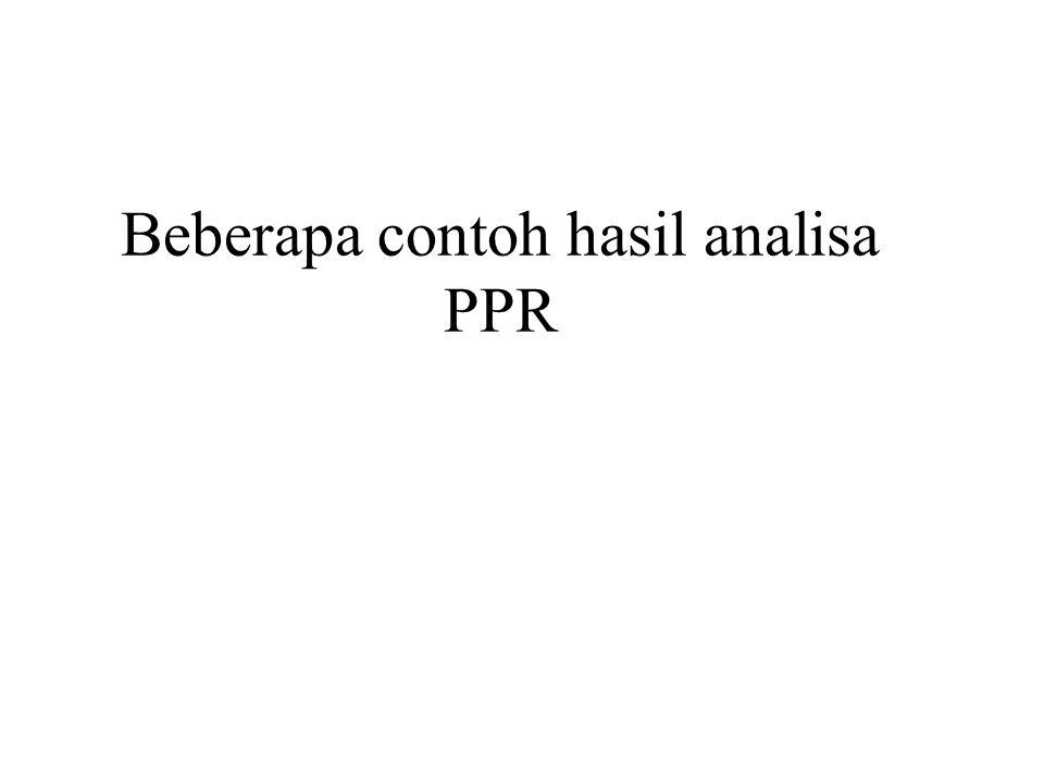 Beberapa contoh hasil analisa PPR