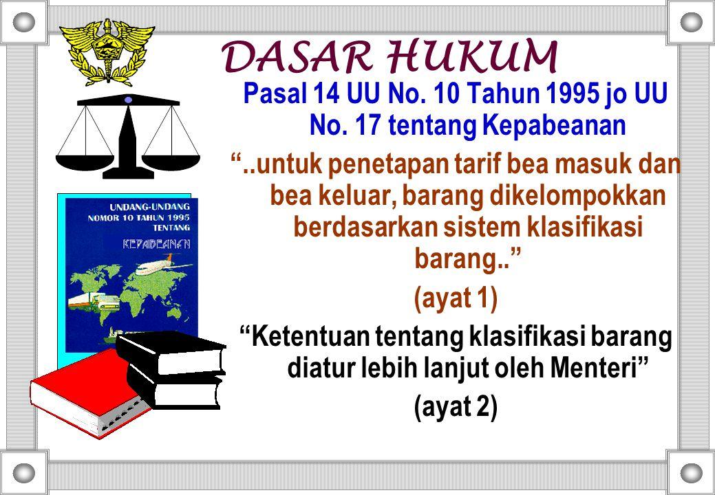 Pasal 14 UU No.10 Tahun 1995 jo UU No.