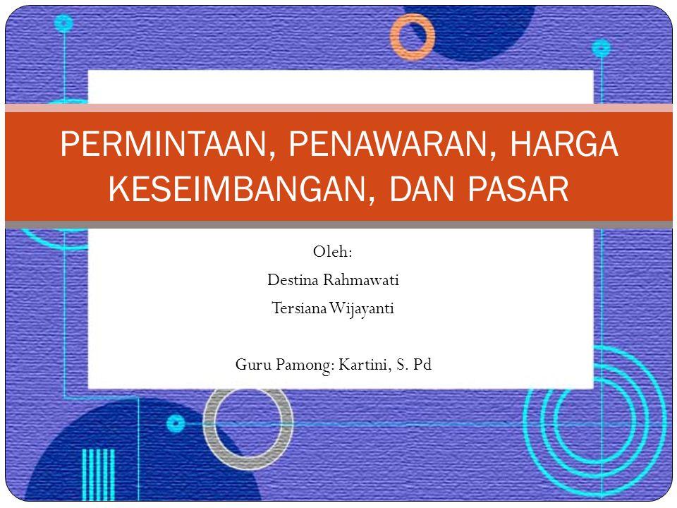 Oleh: Destina Rahmawati Tersiana Wijayanti Guru Pamong: Kartini, S.