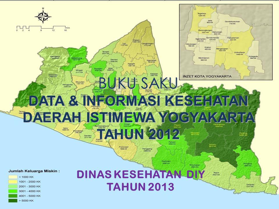 DINAS KESEHATAN DIY TAHUN 2013 BUKU SAKU DATA & INFORMASI KESEHATAN DAERAH ISTIMEWA YOGYAKARTA TAHUN 2012