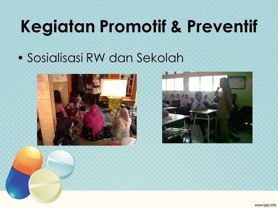 Kegiatan Promotif & Preventif Sosialisasi RW dan Sekolah