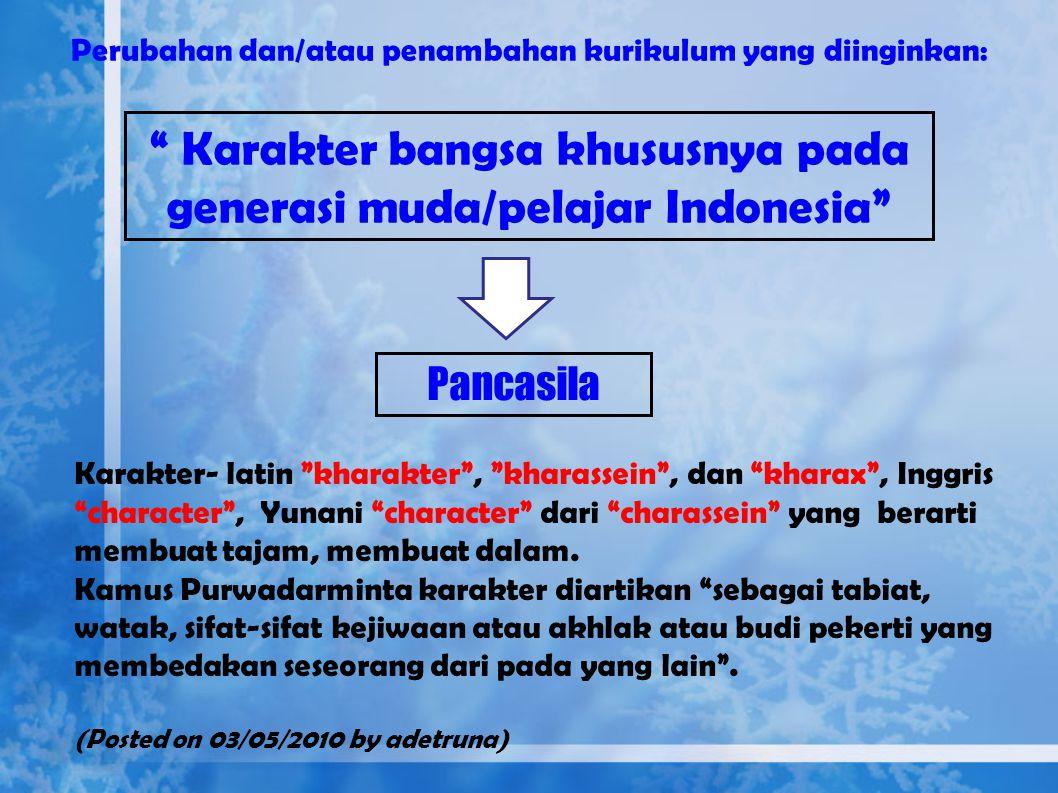 "2.Orde Baru Konsep ""Manusia Indonesia Seutuhnya"" melalui P4 (Pedoman, Penghayatan dan Pengamalan Pancasila), Kemudian sejarah mencatat tidak berlanjut"