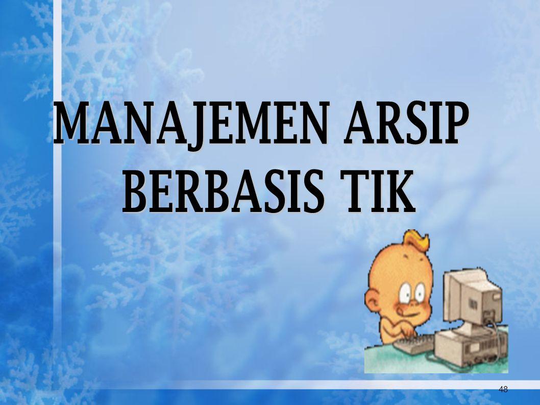 Manajemen Arsip Dinamis (Records Management) DAUR HIDUP ARSIP (Life Cycle of Records) PENGGUNAAN &PEMELIHARAAN PENYUSUTAN PENCIPTAAN * Disain Formulir