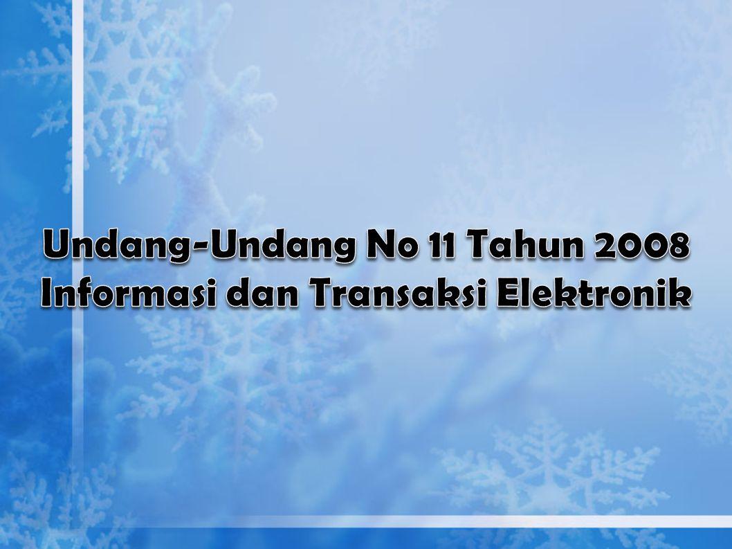 Pengelolaan arsip dalam kaitannya dengan UU No. 11 Tahun 2008 tentang Informasi dan transaksi Elektronik Pengelolaan arsip dalam mendukung Reformasi B