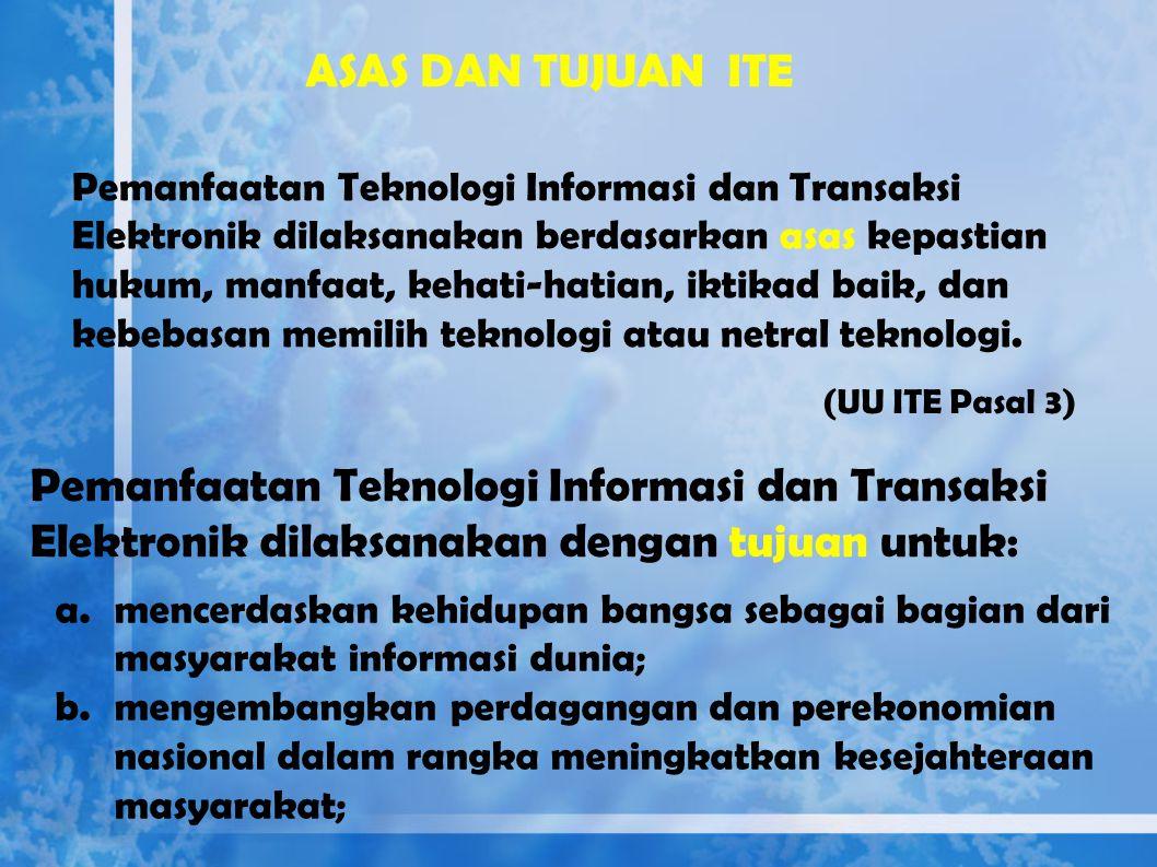 Dokumen Elektronik adalah setiap informasi yang dibuat, diteruskan, dikirimkan, diterima, atau disimpan dalam bentuk analog, digital, elektromagnetik,