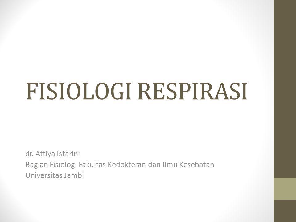 FISIOLOGI RESPIRASI dr.