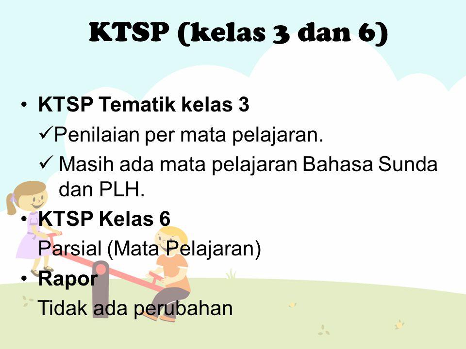KTSP Tematik kelas 3 Penilaian per mata pelajaran.