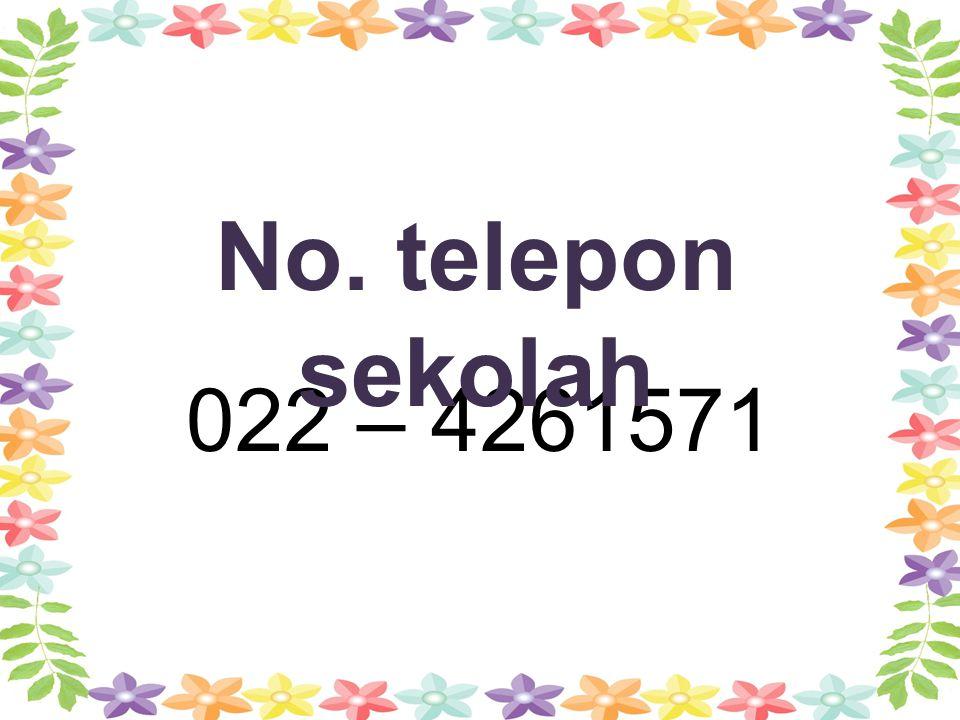 022 – 4261571 No. telepon sekolah