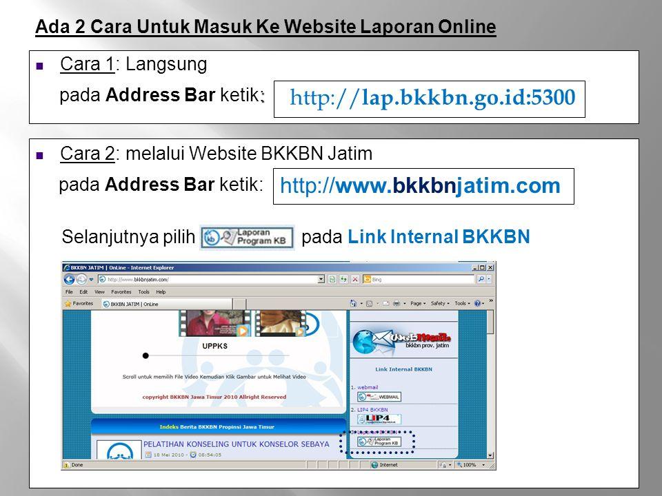 klik Login isikan User Name dan Password klik Log In Login
