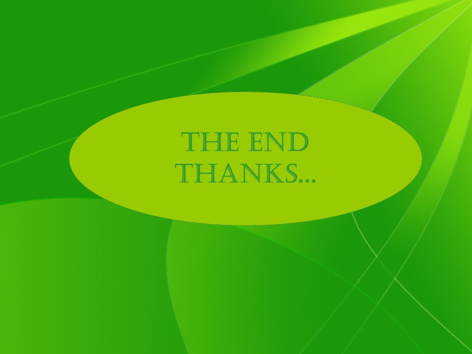 The END Thanks...