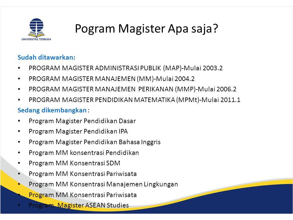 Pogram Magister Apa saja.