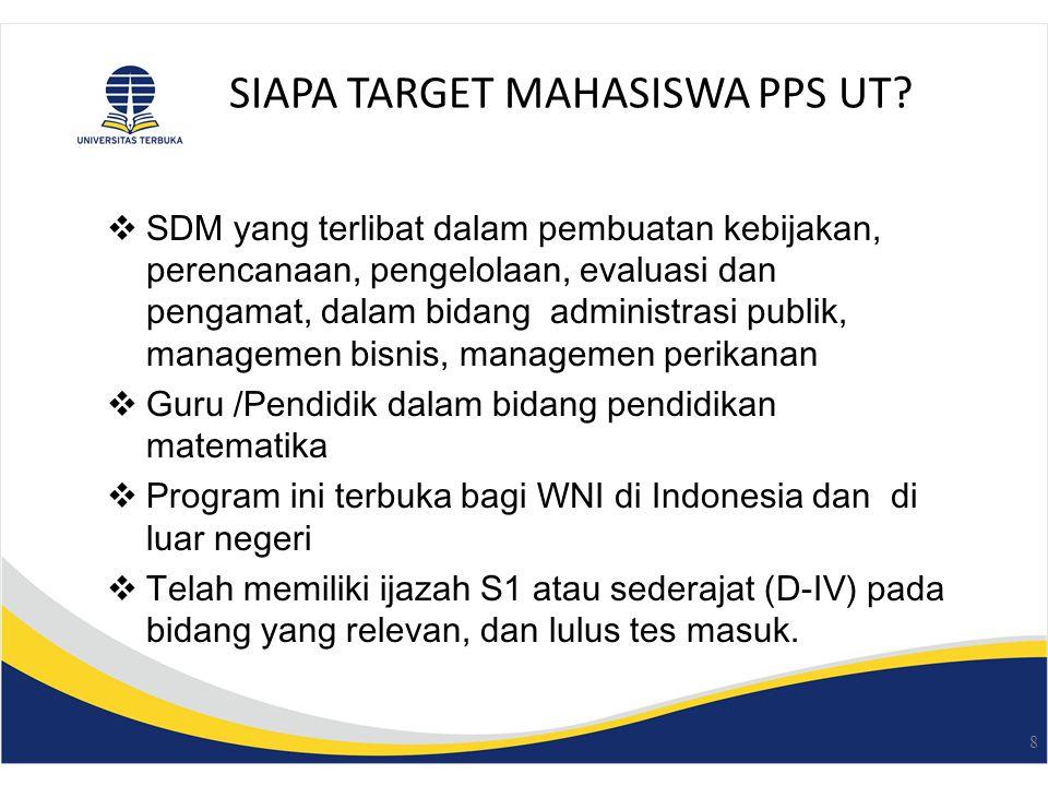 SIAPA TARGET MAHASISWA PPS UT.