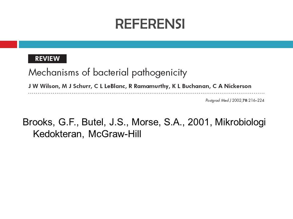 REFERENSI Brooks, G.F., Butel, J.S., Morse, S.A., 2001, Mikrobiologi Kedokteran, McGraw-Hill