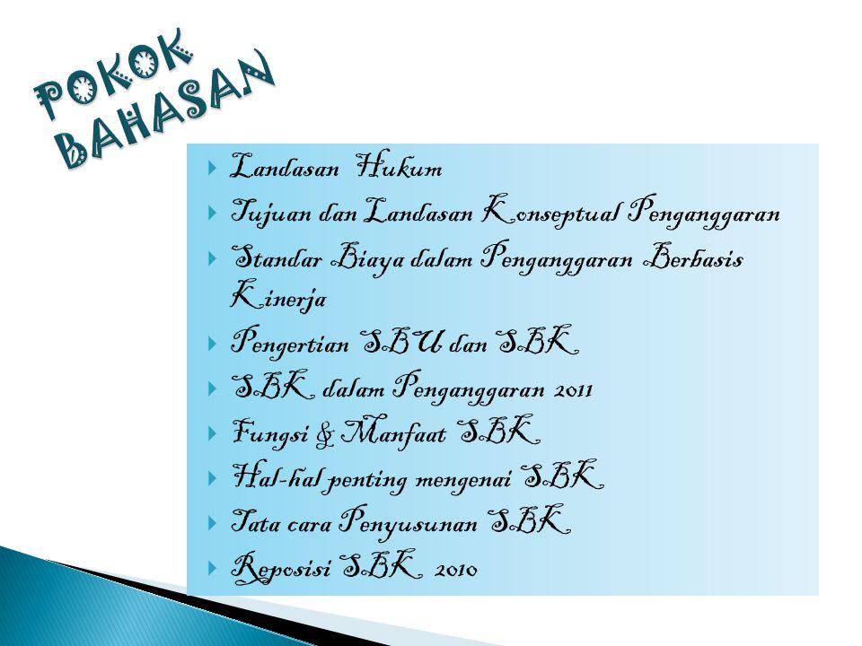 SBK sebagai Indeks Biaya Keluaran  Sebuah kegiatan mempunyai beberapa keluaran (output).