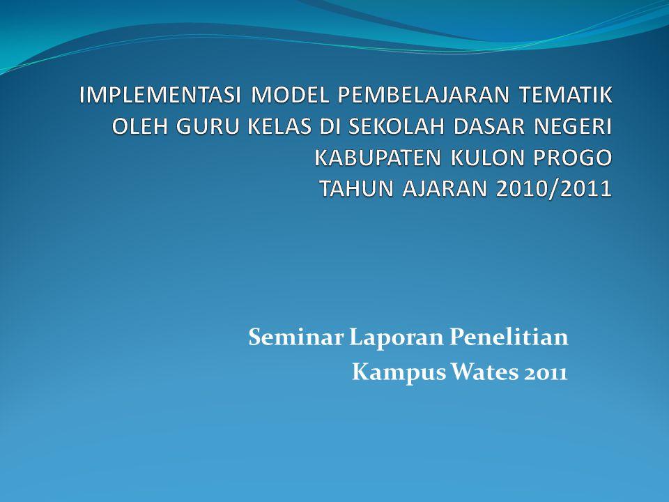 Seminar Laporan Penelitian Kampus Wates 2011