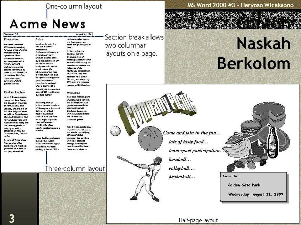 MS Word 2000 #3 – Haryoso Wicaksono 3 Contoh Naskah Berkolom