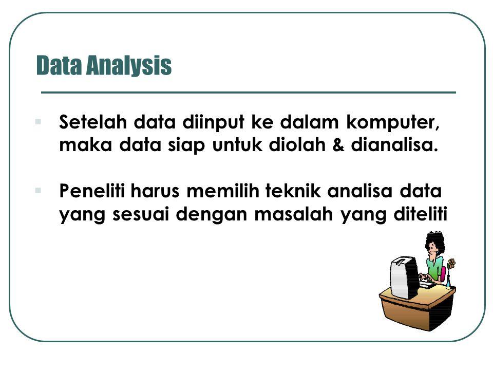 Analisa data: 1.