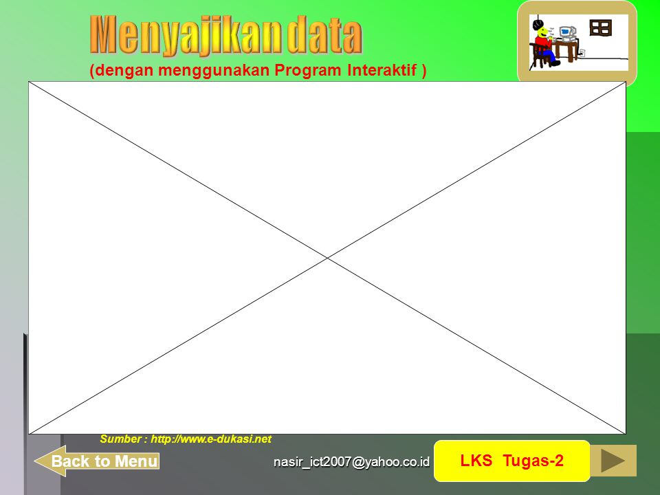 nasir_ict2007@yahoo.co.id (dengan menggunakan Program Interaktif ) LKS Tugas-2 Back to Menu Sumber : http://www.e-dukasi.net